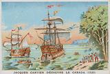 Jacques Cartier discovering Canada, 1535