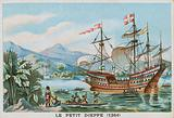 The French ship 'Petit Dieppe' off West Africa, 1364