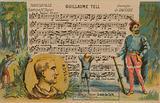 Gioachino Rossini, 19th Century Italian composer, and music from his opera 'William Tell'