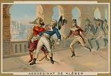 Assassination of Jean-Baptiste Kleber, commander of French troops in Egypt, Cairo, 1800