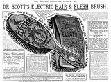 Advertisement for Dr Scott's Electric Hair and Flesh Brush