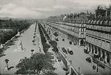 Perspective du Jardin des Tuileries et la Rue de Rivoli, Perspektive on garden of the Tuileries …