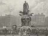 Lord Beaconsfield's Statue on Primrose Day, 1895