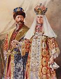 Emperor and Empress in Ancient Dress