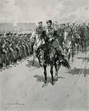 The Tsar reviewing his Troops