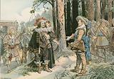 George William meeting Gustavus Adolphus of Sweden at Kopenick in 1631