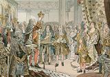The coronation of Frederick I of Prussia  in Konigsberg in 1701