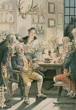 Friedrich Wilhelm I  in the Tabakskollegium