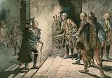 Frederick the Great (1712-1786) at the Castle of Lissa on the evening of the battle of Leuthen in 1757