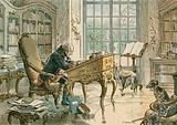Frederick the Great  in his study