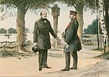 Wilhelm I, King of Prussia and first German Emperor, and Otto von Bismarck …