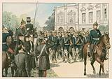 The last parade of Frederick III, German Emperor and King of Prussia (1831-1888), in 1888