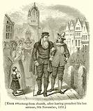 Knox returning from Church, after having preached his Last Sermon, 9th November, 1572