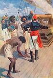 """""""The chiefs were then directed to look at a rock about two miles out at sea, and the gun was fired"""""""