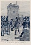 Pitt drilling militia at Walmer Castle in 1803