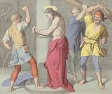 Jesus is scourged at the pillar