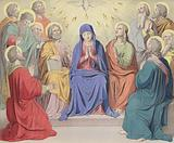 The sending of the Holy Spirit