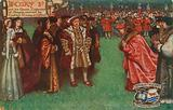 Henry 8th and his Queen, Catherine of Aragon, received by Cardinal Wolsey at Oxford, 1518