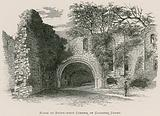 Kirkstall Abbey, Ruins at South-west Corner of Cloister Court