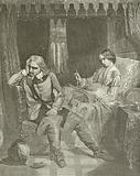 Oliver Cromwell at the Death Bed of his Daughter
