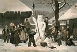 The Snow Bear-Schoolboy pastime near Bern