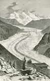 The Gorner Glacier and Monte Rosa
