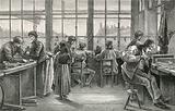 Watchmaker's workshop at La Chaux de Fonds