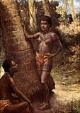 Women of Rennell Island (Polynesia)