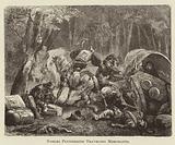 Nobles Plundering Traveling Merchants