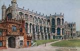 Horse-shoe Cloisters and St Georges Chapel, Windsor