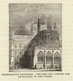 Peterborough Cathedral, the East End (before the Re-building of the Tower)