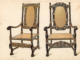 Chair, property of P Macquoid; Chair, property of Arthur S Cope