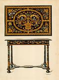 Table Inlaid with Marqueterie, property of Lord Zouche of Haryngworth