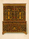 Cabinet Press Inlaid with Marqueterie, property of the Marquess of Exeter