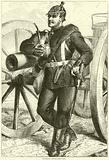 Prussian Artilleryman, October 1870
