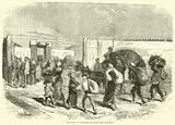 Bringing in vegetables from the suburbs, October 1870