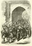 French troops leaving Strasburg after the capitulation, September 1870