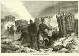 In the trenches before Strasburg, September 1870