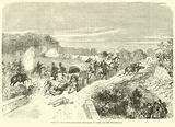 French capturing Prussian provision wagons before Thionville, September 1870