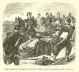 Macmahon carried from the Battle-field of Sedan, September 1870