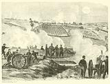 Union position near the center, Battle of Gettysburg, 2 July, July 1863