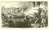 Impromptu barricade, July 1863