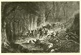 Dragging artillery over the mountains, August 1863