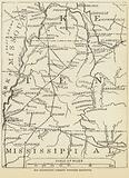Map illustrating Forrest's Tennessee Expedition, February 1864
