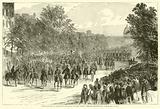 Grand review at Washington, Sheridan's cavalry passing through Pennsylvania Avenue, 23 May 1865, May 1865