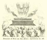 Descent of Fire on the Altar, Leviticus, ix, 24