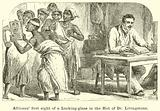Africans' first sight of a Looking-glass in the Hut of Dr Livingstone
