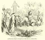 A Christian Captive brought as a Sacrifice to a Druid Idol