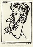 Caricature of George Bernard Shaw