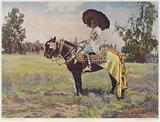 A Tunisian person on horseback